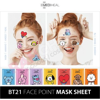 【数量限定】 BT21 x MEDIHEAL / FACE POINT MASK / BT21 フェイスポイントマスク / メディヒール / マスクパック / ばら売り(1枚)