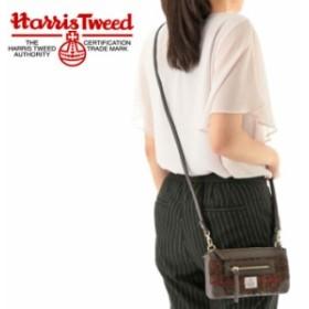 [送料無料]ハリスツイード HARRIS TWEED ウォレットショルダー 財布 ショルダーバッグ ブラック ワイン ブラウン khb1704