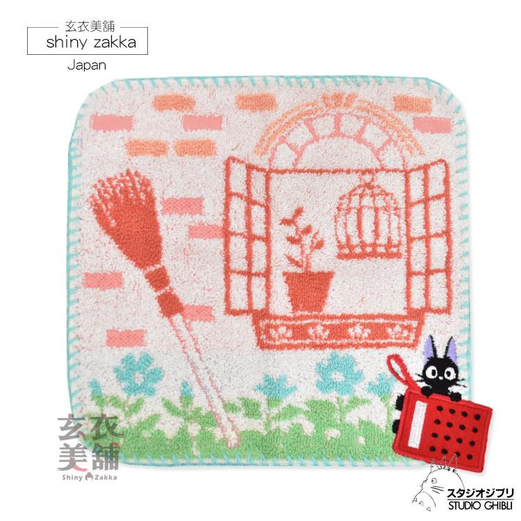 日本毛巾-宮崎駿魔女宅急便 黑貓收音機小方巾-玄衣美舖