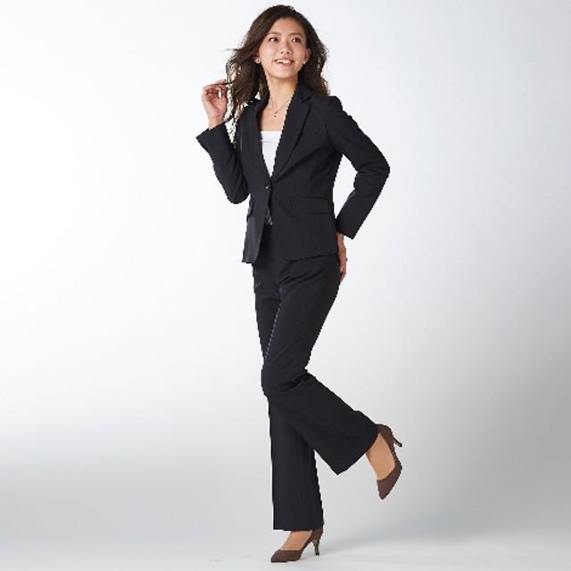 洗えてロングシーズン活躍♪お得な2パンツセットスーツ(股下77cm)【レディーススーツ】 【レディーススーツ】通勤・社会人・リクルートスーツ,Women's Suits, 套装, 套裝