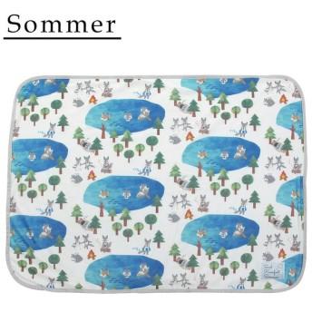Sommer(ソメル) 冷感ひざかけ オオカミ 71814
