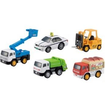 ドライブタウン はたらく車両セット 働く車5台セット おもちゃ
