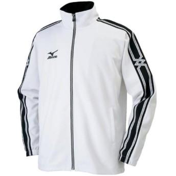 MIZUNO SHOP [ミズノ公式オンラインショップ] ウォームアップシャツ(大きいサイズ)[ユニセックス] 01 ホワイト 32JC8G60