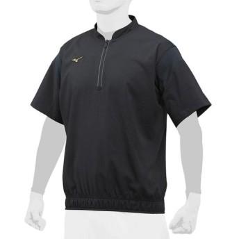 MIZUNO SHOP [ミズノ公式オンラインショップ] 【ミズノプロ】トレーニングジャケットハーフZIP/半袖[ユニセックス] 09 ブラック 12JE8J82