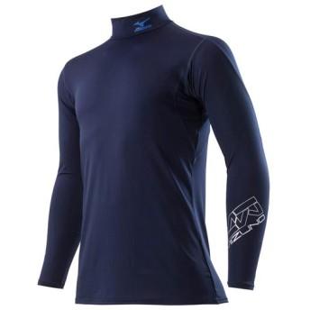 MIZUNO SHOP [ミズノ公式オンラインショップ] <ゼロプラス>ハイネックシャツ長袖[ユニセックス] 14 ネイビー C2JJ8181