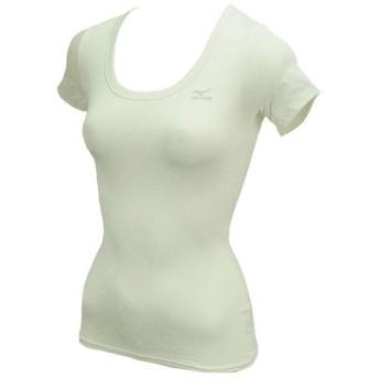 MIZUNO SHOP [ミズノ公式オンラインショップ] バイオギア ラウンドネック半袖シャツ(姿勢ナビ/レディース) 01 ホワイト A76BS226