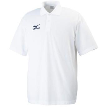 MIZUNO SHOP [ミズノ公式オンラインショップ] ポロシャツ[メンズ] 74 ホワイト×ネイビー 32JA6195