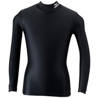 MIZUNO SHOP [ミズノ公式オンラインショップ] ハイネック長袖シャツ(ジュニア) 09 ブラック×ホワイト A35BS250