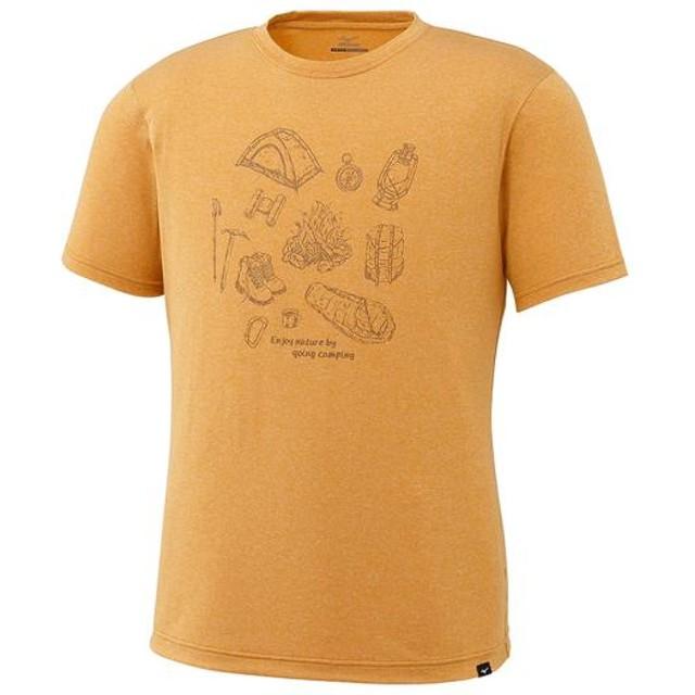 MIZUNO SHOP [ミズノ公式オンラインショップ] ヘザーライト半袖プリントTシャツ[メンズ] 43 サンフラワーイエロー A2JA7022