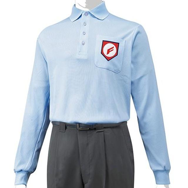 MIZUNO SHOP [ミズノ公式オンラインショップ] 高校野球/ボーイズリーグ審判員用長袖シャツ 18 パウダーブルー 12JC4X01