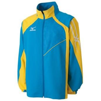 MIZUNO SHOP [ミズノ公式オンラインショップ] トレーニングクロスシャツ(ラケットスポーツ)[ユニセックス] 24 ディーバブルー×サイバーイエロー 62JC6021