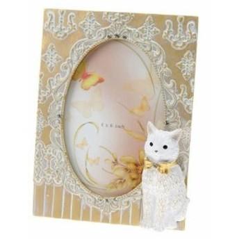 フォトフレーム 写真立て ねこ ゴールド 姫系雑貨 女性 誕生日プレゼント お礼 お祝い お返し 宅急便コンパクト可