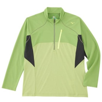 MIZUNO SHOP [ミズノ公式オンラインショップ] ドライアクセルソーラーカット長袖ジップネックシャツ[メンズ] 37 ダークシトロン A2JA6071