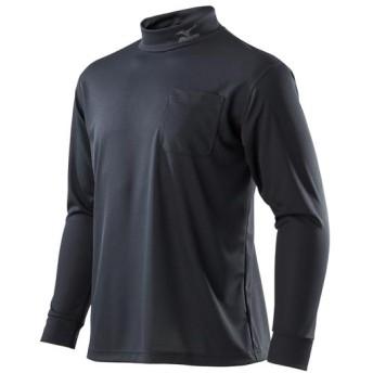 MIZUNO SHOP [ミズノ公式オンラインショップ] ナビドライワークシャツ長袖[ユニセックス] 09 ブラック C2JA8183