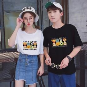 先着50名セール【7color】綿100%mickeyTシャツ可愛いミッキープリント★ペアルックカップルtシャツ ミッキー Tシャツ ディズニー 半袖 レディース メンズ