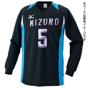 MIZUNO SHOP [ミズノ公式オンラインショップ] ゲームシャツ(バレーボール) 92 ブラックxターコイズ 59SV324