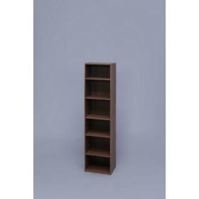 アイリスオーヤマ モジュール ボックス 6段 可動棚 幅36.6×奥行29×高さ144.6cm ウォールナットブラウン MDB-6K