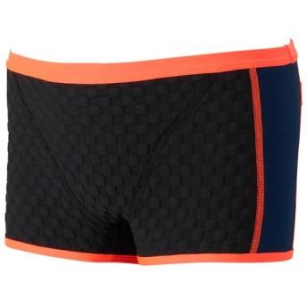 MIZUNO SHOP [ミズノ公式オンラインショップ] 競泳練習用エクサースーツWD ショートスパッツ[メンズ] 86 ネイビー×ファイアリーコーラル N2MB7576