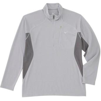 MIZUNO SHOP [ミズノ公式オンラインショップ] ドライベクターライトインナー長袖ジップネックシャツ[メンズ] 05 アロイグレー A2JA6061