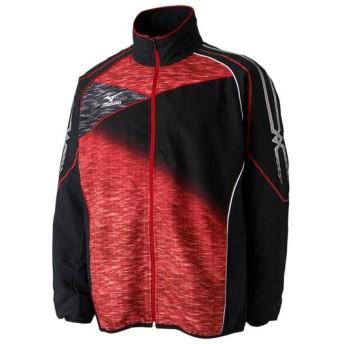 MIZUNO SHOP [ミズノ公式オンラインショップ] トレーニングクロスシャツ(ラケットスポーツ)[ユニセックス] 96 ブラック×チャイニーズレッド 62JC7021