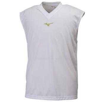 MIZUNO SHOP [ミズノ公式オンラインショップ] ノースリーブシャツ[ユニセックス] 01 ホワイト 32JA8172