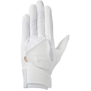 MIZUNO SHOP [ミズノ公式オンラインショップ] セレクトナインW【両手用】[ユニセックス]高校野球ルール対応モデル 10 ホワイト×ホワイト(掌部:ホワイト) 1EJEH144