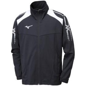 MIZUNO SHOP [ミズノ公式オンラインショップ] ウォームアップシャツ[ジュニア] 09 ブラックxシルバー 32JC8415