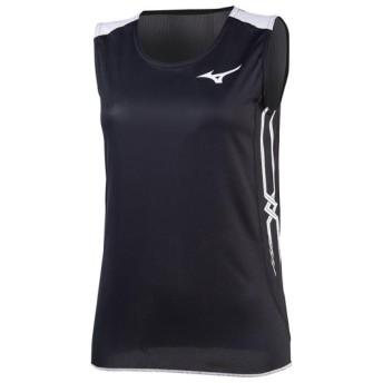 MIZUNO SHOP [ミズノ公式オンラインショップ] レーシングシャツ(陸上競技)[レディース] ブラックxホワイト U2MA8250