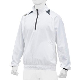 MIZUNO SHOP [ミズノ公式オンラインショップ] 【ミズノプロ】トレーニングジャケットハーフZIP/長袖[ユニセックス] 01 ホワイト 12JE8J81
