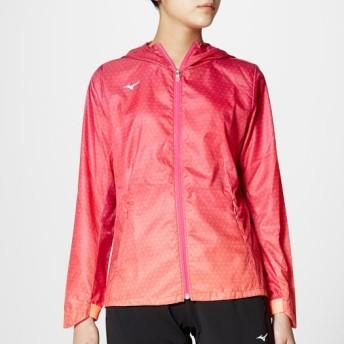 MIZUNO SHOP [ミズノ公式オンラインショップ] ウィンドブレーカーシャツ[レディース] 63 ルミナスピンク×ルミナスオレンジ 32ME7310