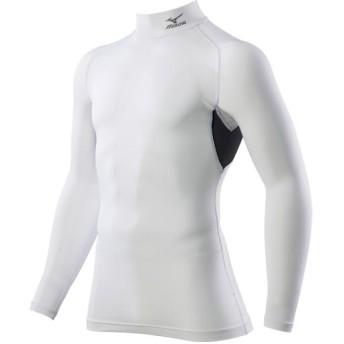 MIZUNO SHOP [ミズノ公式オンラインショップ] コンプレッションハイネックシャツ長袖[ユニセックス] 01 ホワイト C2JJ8183