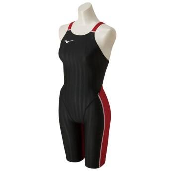 MIZUNO SHOP [ミズノ公式オンラインショップ] 競泳用ハーフスーツ[レディース] 96 ブラック×レッド N2MG8226