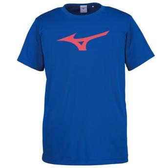 MIZUNO SHOP [ミズノ公式オンラインショップ] Tシャツ[ユニセックス] 25 サーフブルー×レッド 32JA8155