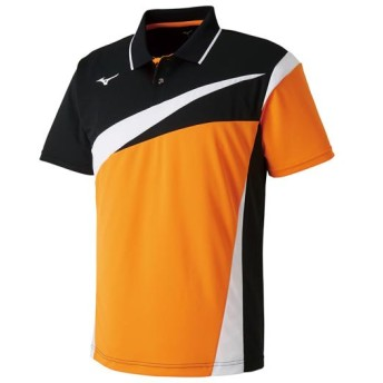 MIZUNO SHOP [ミズノ公式オンラインショップ] ゲームシャツ(ラケットスポーツ)[ユニセックス] 54 ポップオレンジ 62JA8103