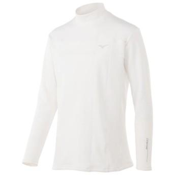MIZUNO SHOP [ミズノ公式オンラインショップ] ブレスサーモ バイオネクストハイネック長袖シャツ[メンズ] 01 ホワイト 52MJ7503
