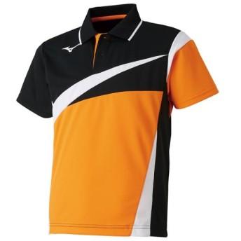 MIZUNO SHOP [ミズノ公式オンラインショップ] ゲームシャツ(ラケットスポーツ)[ジュニア] 54 ポップオレンジ 62JA8005