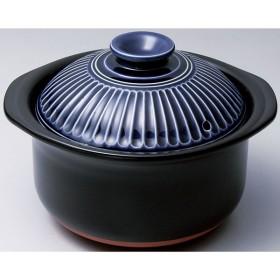 菊花 ごはん鍋 2合炊き 瑠璃釉 土鍋・卓上鍋