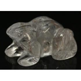 カエル 水晶(ルチル入り) No.06 1個売り 天然石 パワーストーン