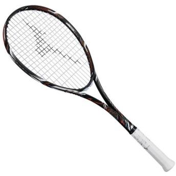 MIZUNO SHOP [ミズノ公式オンラインショップ] ディオスプロR(ソフトテニス) 54 ソリッドブラック×フューチャーオレンジ 63JTN861