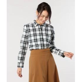 フレディアンドグロスター レギュラーチェックシャツ レディース ホワイト系2 38 【FREDY & GLOSTER】