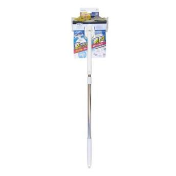 窓・網戸 楽絞りワイパーF ホワイト 拭き幅/約19cm全長/約80114cm 掃除用品
