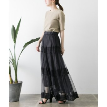URBAN RESEARCH(アーバンリサーチ) スカート スカート チュール×アンティークレースティアードスカート【送料無料】