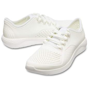 【クロックス公式】 ライトライド ペイサー メン Men's LiteRide Pacer メンズ、紳士、男性用 ホワイト/白 25cm,26cm,27cm,28cm,29cm shoe 靴 シューズ 20%OFF
