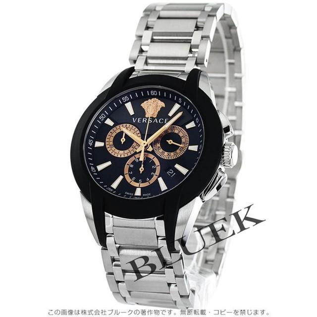 24f360650e ヴェルサーチ キャラクター クロノ クロノグラフ 腕時計 メンズ VERSACE M8C99D007S099