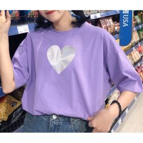 Tシャツ - VICTORIA Tシャツ レディース トップス クルーネック 春 夏 新作 白 ホワイト 紫 パープル 22F82127