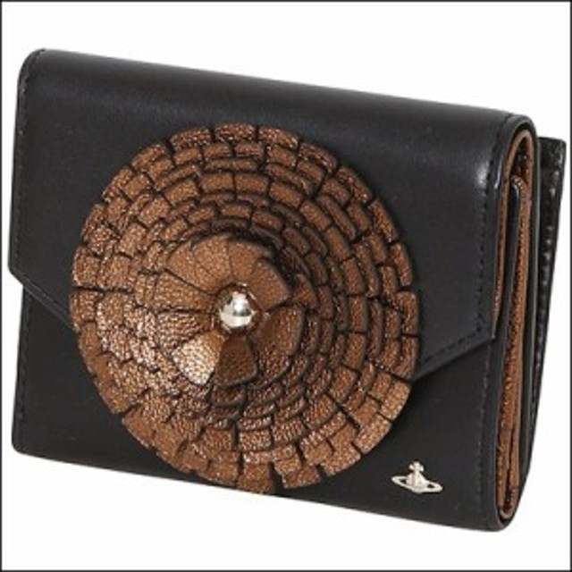 012f2ef859ba Vivienne Westwood ヴィヴィアン ウエストウッド リッチモンド 三つ折り財布 ブラック