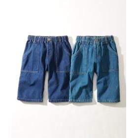デニムハーフパンツ2枚組(男の子。女の子 子供服。ジュニア服) パンツ