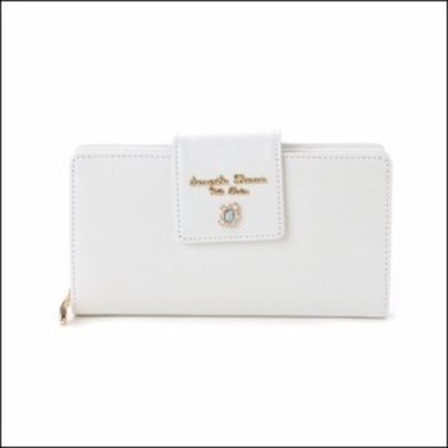 サマンサタバサ プチチョイス ビジューシリーズ ルイーズ 折財布 オフホワイト