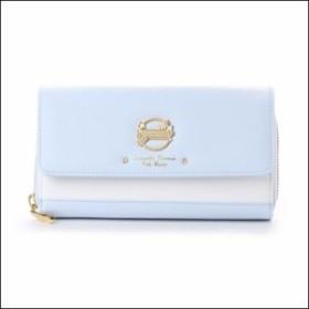 サマンサタバサ プチチョイス モバイルショルダー バイカラーバージョン お財布バッグ ライトブルー