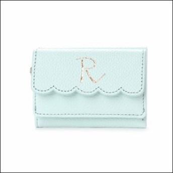 サマンサタバサ プチチョイス イニシャルシリーズ ミニ財布 R グリーン